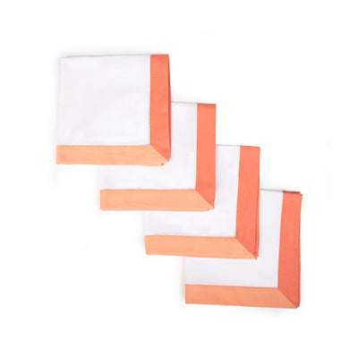 The Modernist Napkins, Set of 4 - Coral