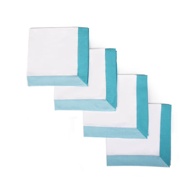 The Modernist Napkins, Set of 4 - Turquoise