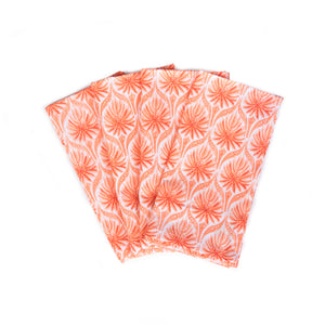 The Romantic Napkins, Set of 4 - Coral