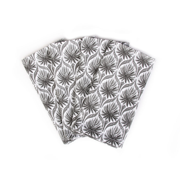 The Romantic Napkins, Set of 4 - Grey