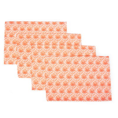 The Romantic Placemats, Set of 4 - Coral