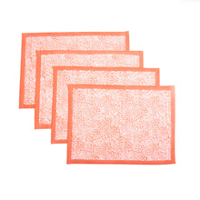 Load image into Gallery viewer, The Wild Child Placemats, Set of 4 - Coral
