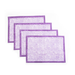 The Wild Child Placemats, Set of 4 - Purple