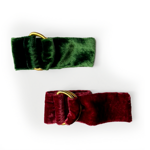 Velvet Napkin Ring Set - Green