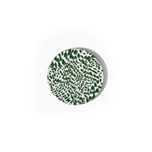 Wild Child Round Wipeable Coasters, Set of 4 - Green
