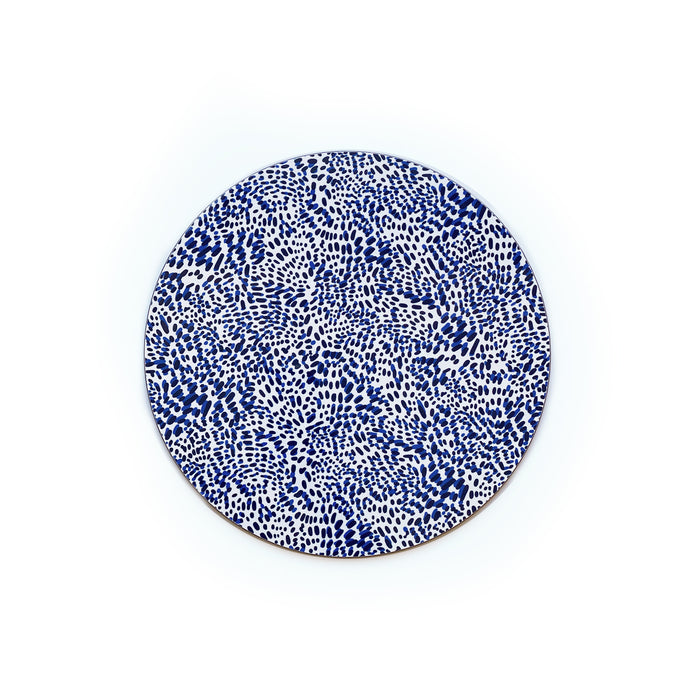 Wild Child Round Wipeable Placemat - Blue
