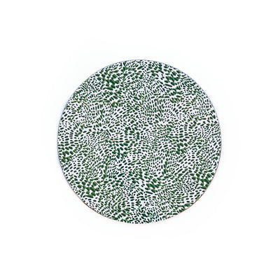 Wild Child Round Wipeable Placemat - Green