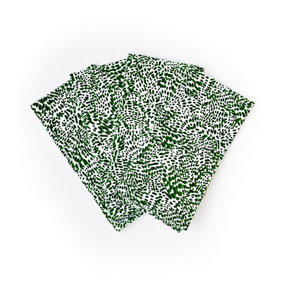 The Wild Child Napkins, Set of 4 - Green