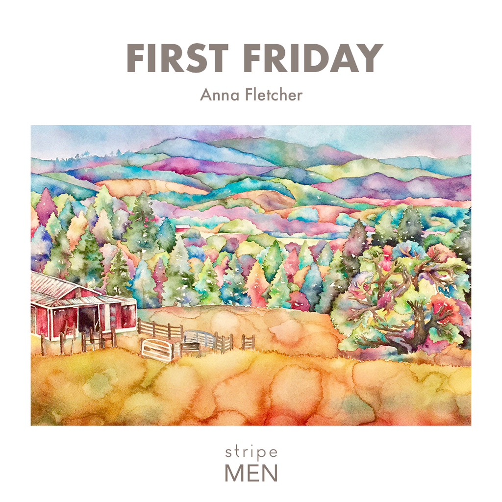 Anna Fletcher First Friday Santa Cruz at Stripe Men