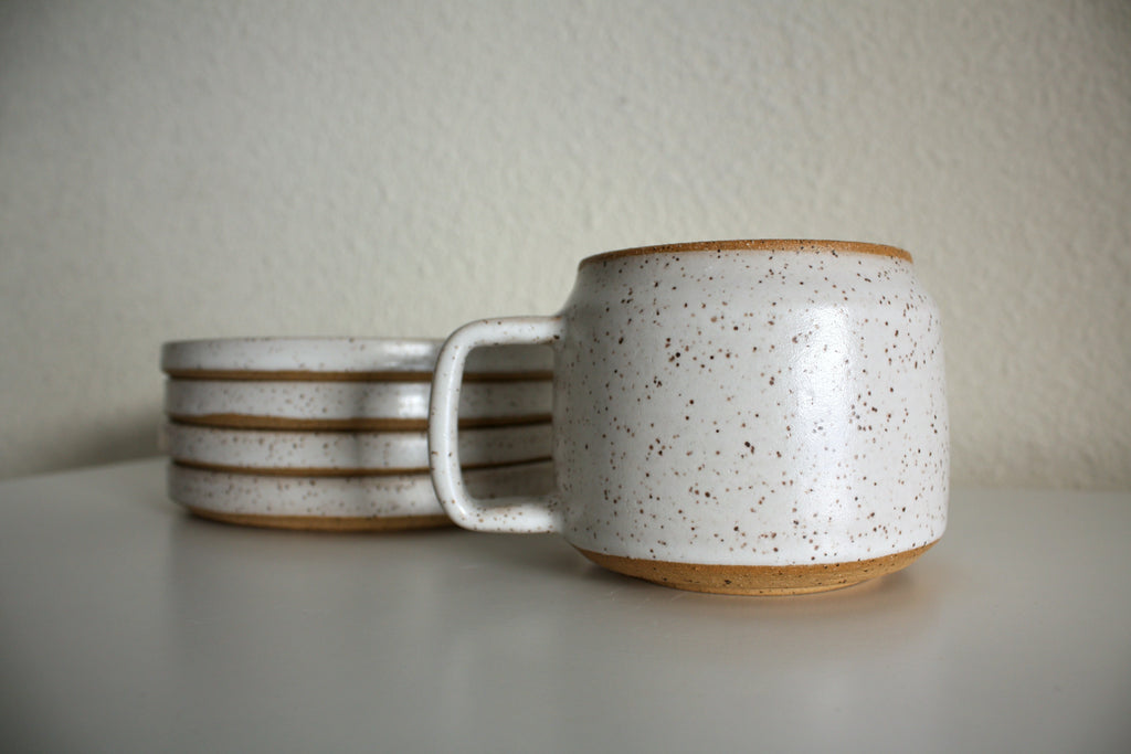 Jonas Davidson Permanent Vaclaytion ceramic mug and plates