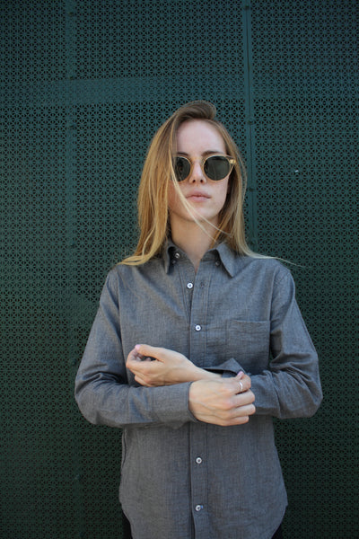 Eight+Sand Stone Twill Button Down