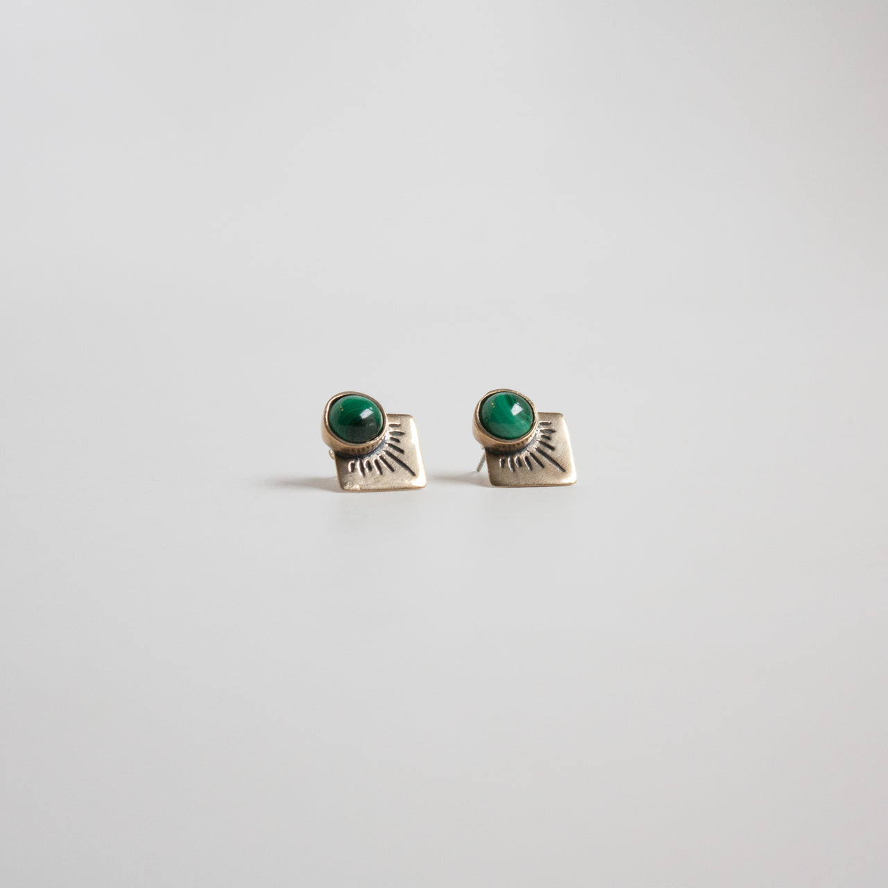 Marisol Stud Earrings Malachite
