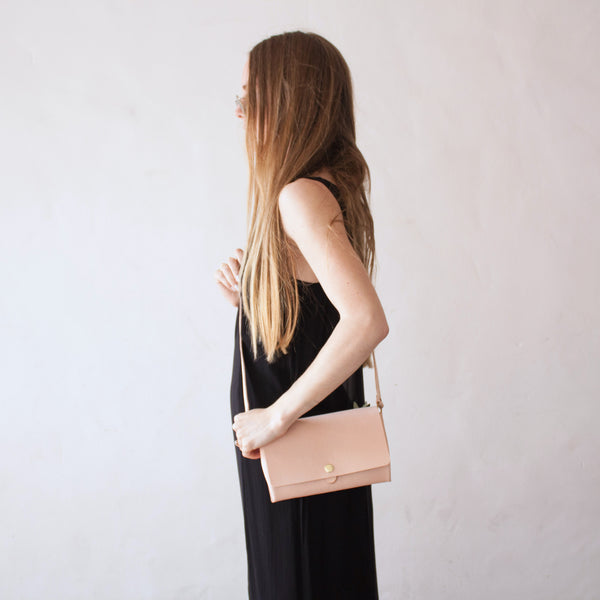 Stripe x Maybelle Hip Clutch Natural