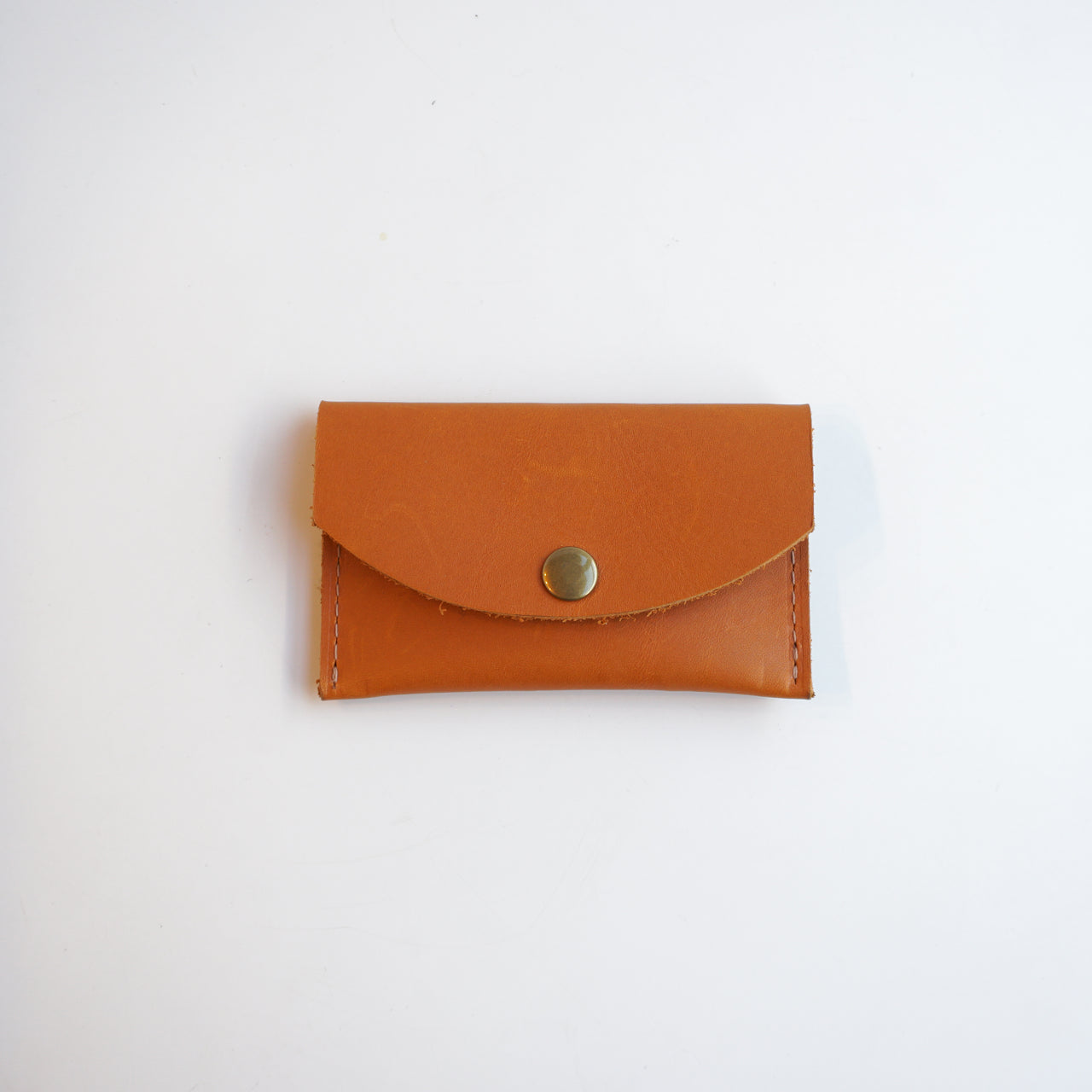 Leather Snap Wallet Tan