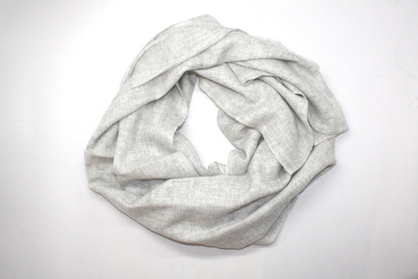 Winter Grey Cashmere Scarf