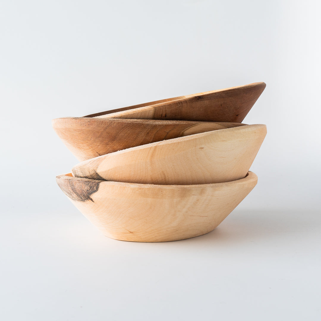 Handcarved Wooden Bowl - Cherry and Maple