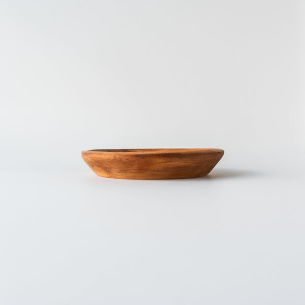 Handcarved Thick Wooden Plate