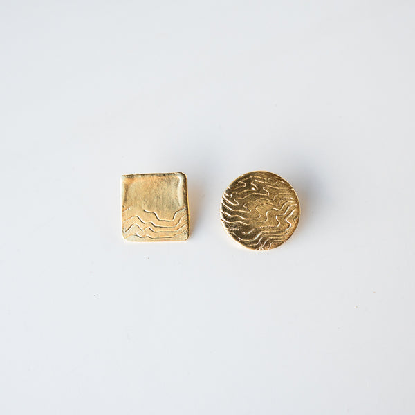Circle and Square Studs