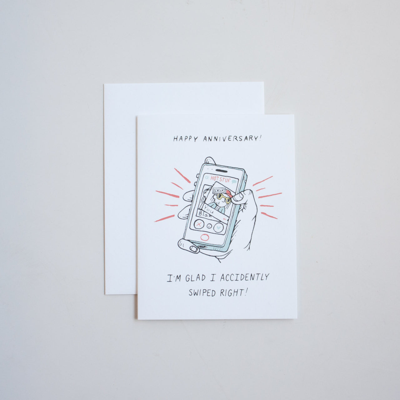 Swipe Right Anniversary Card