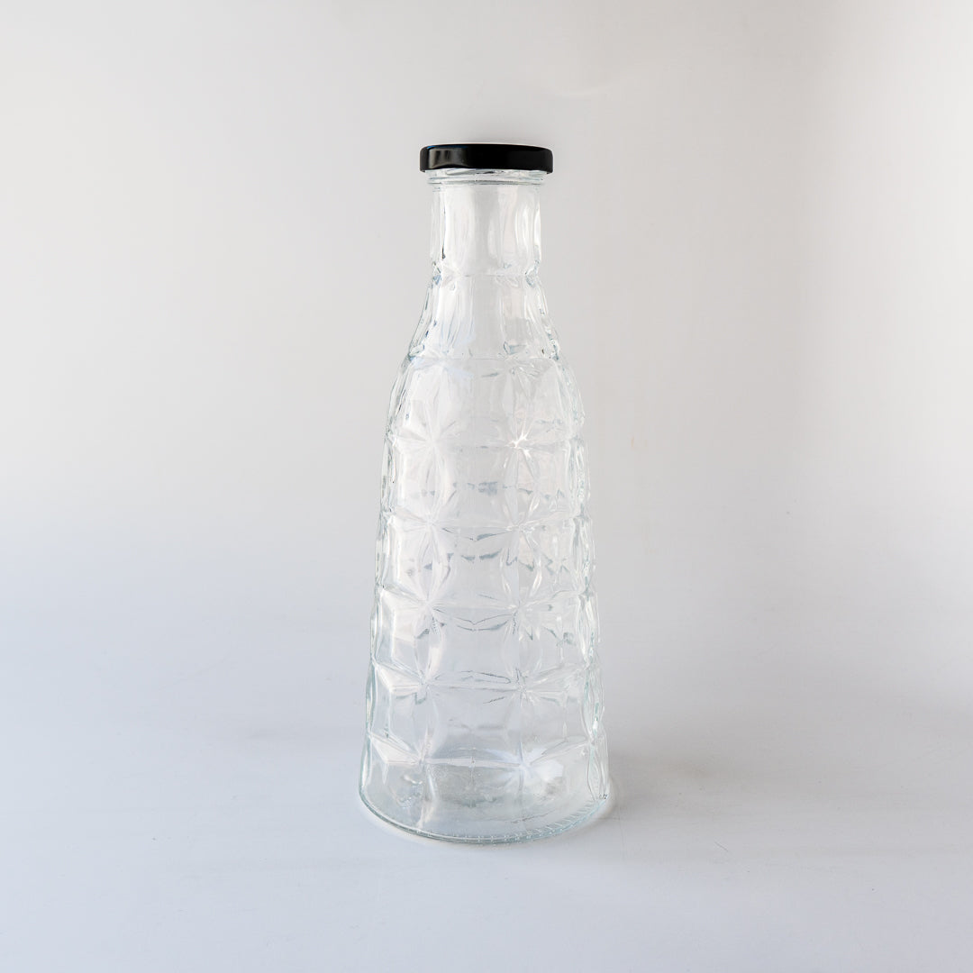 Diamond Glass Bottle