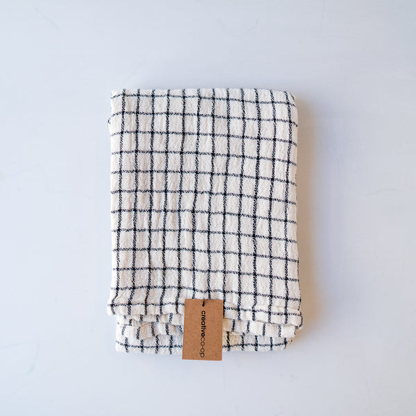 Cotton Tea Towel Grid
