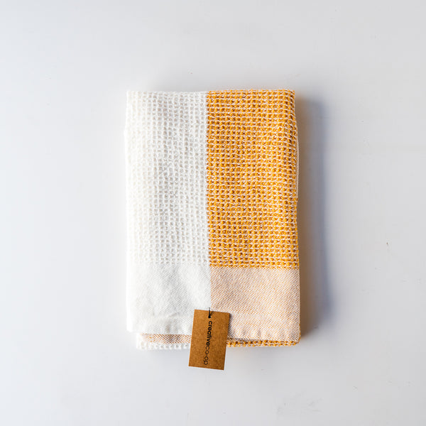 Orange Color Block Tea Towel