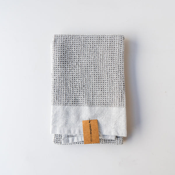 Light Grey Color Block Tea Towel