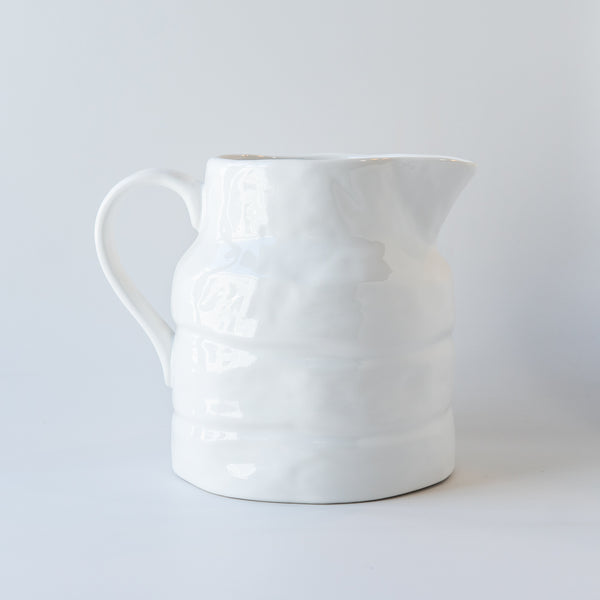 Textured White Pitcher