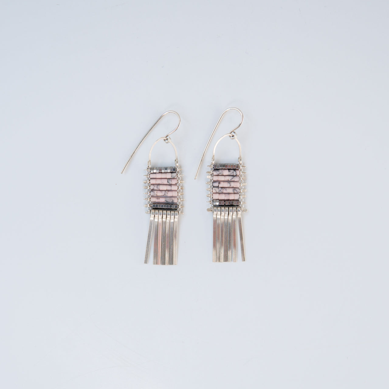 Pink Opal Fringe Earrings