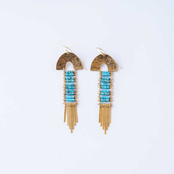 Turquoise Arc Earrings