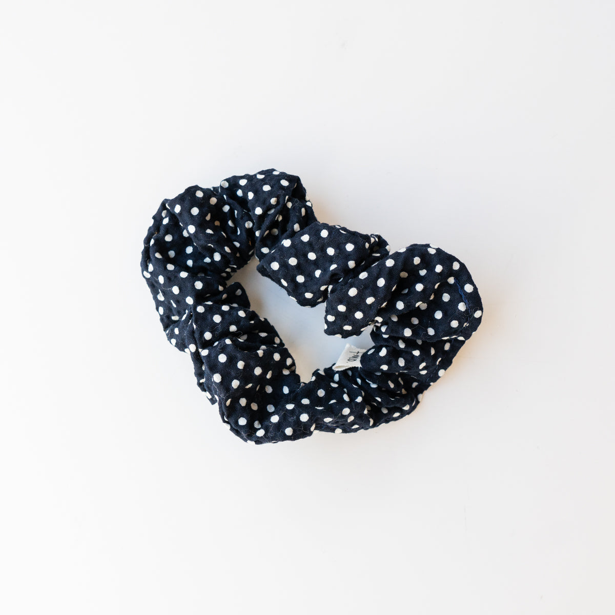Scrunchie - Black Polka Dot