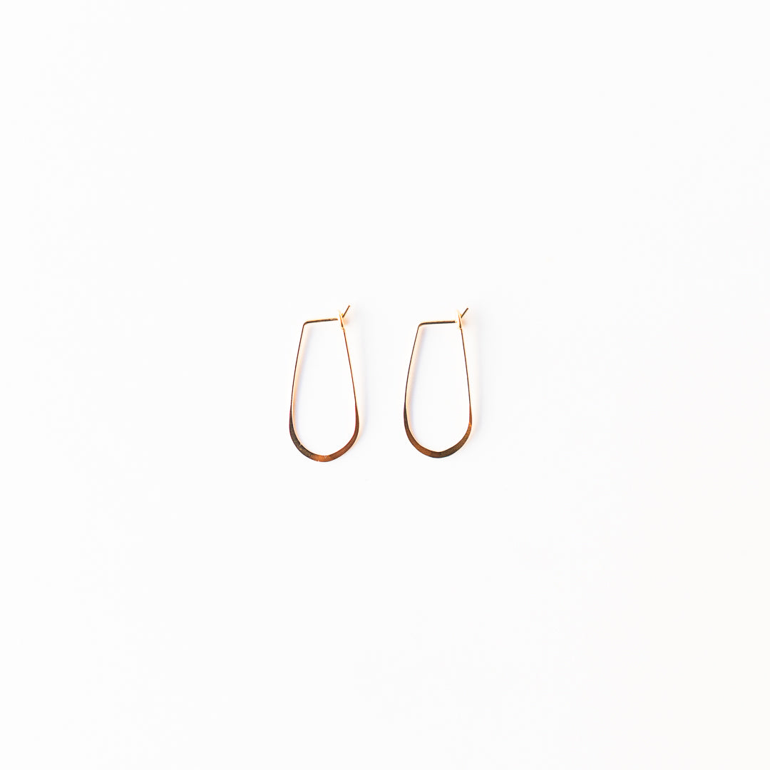 Gold Little Teardrop Hoops