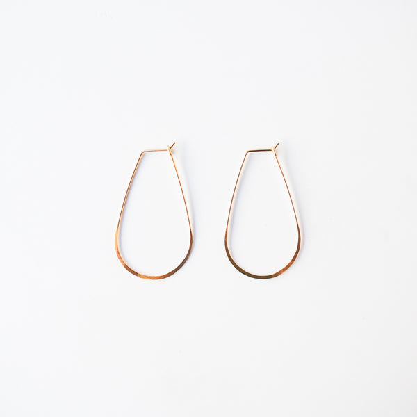 Teardrop Gold Hoops
