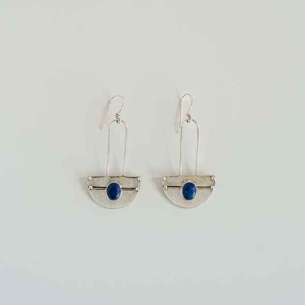 Anchor Earrings Lapis Luzuli