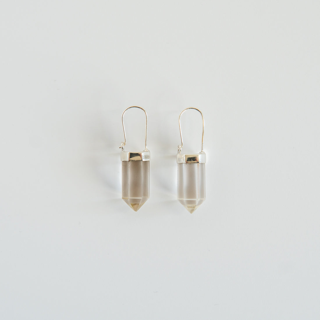 Pillar Earrings in Clear Quartz