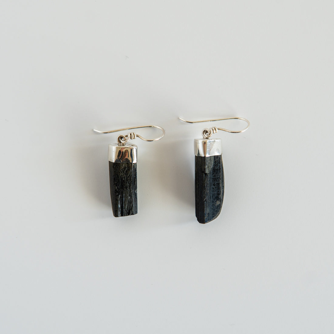 Protector Earrings in Black Tourmaline