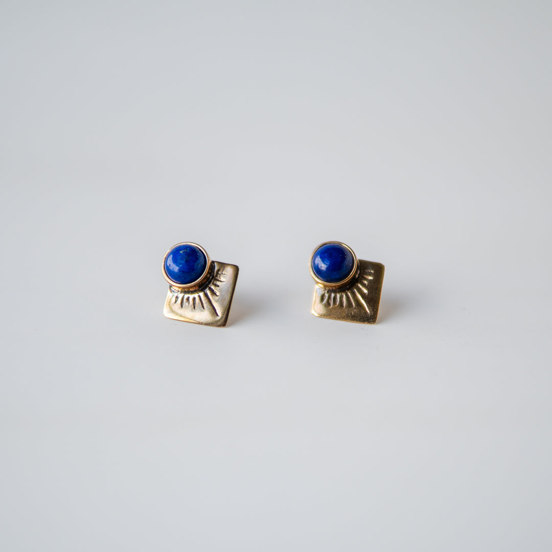 Marisol Stud Earrings Lapis Luzuli
