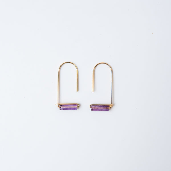Amethyst Gemstone Drop Earring