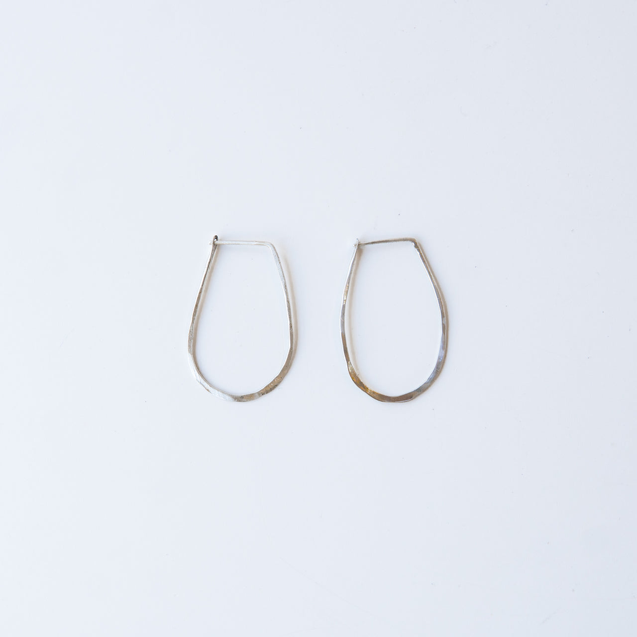 Sterling Silver Teardrop Hoops