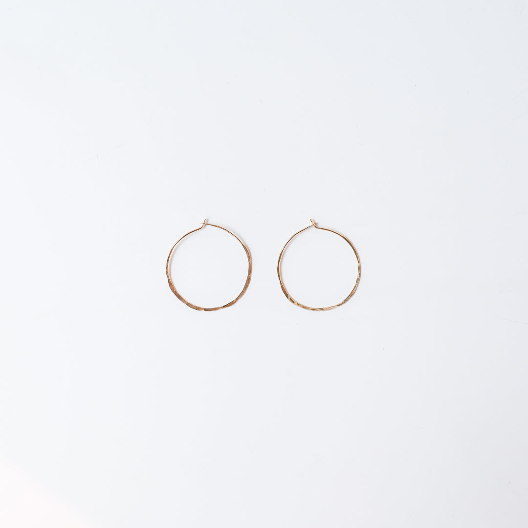 "1.5"" Gold Hoops 14k Gold Fill"
