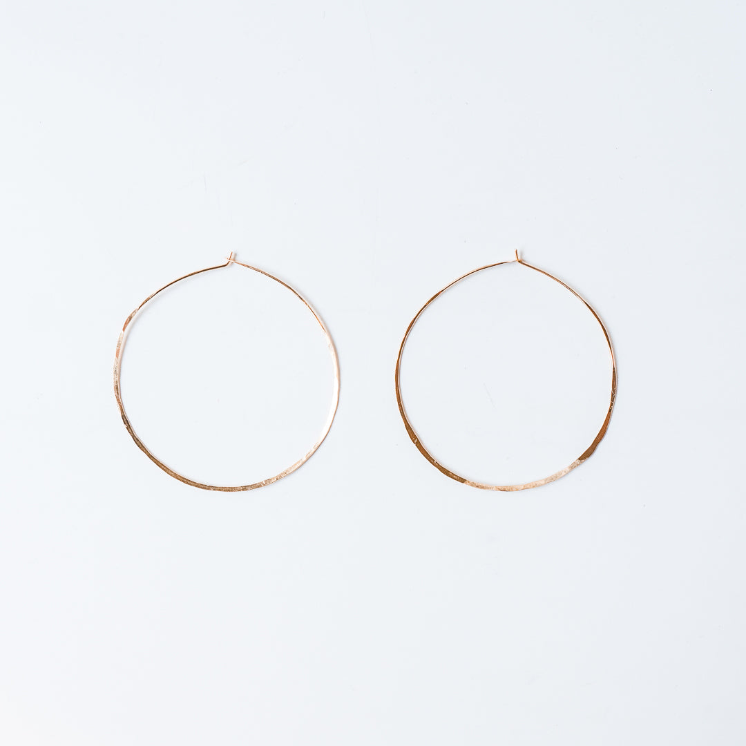 "2.5"" Gold Hoops 14k Gold Fill"