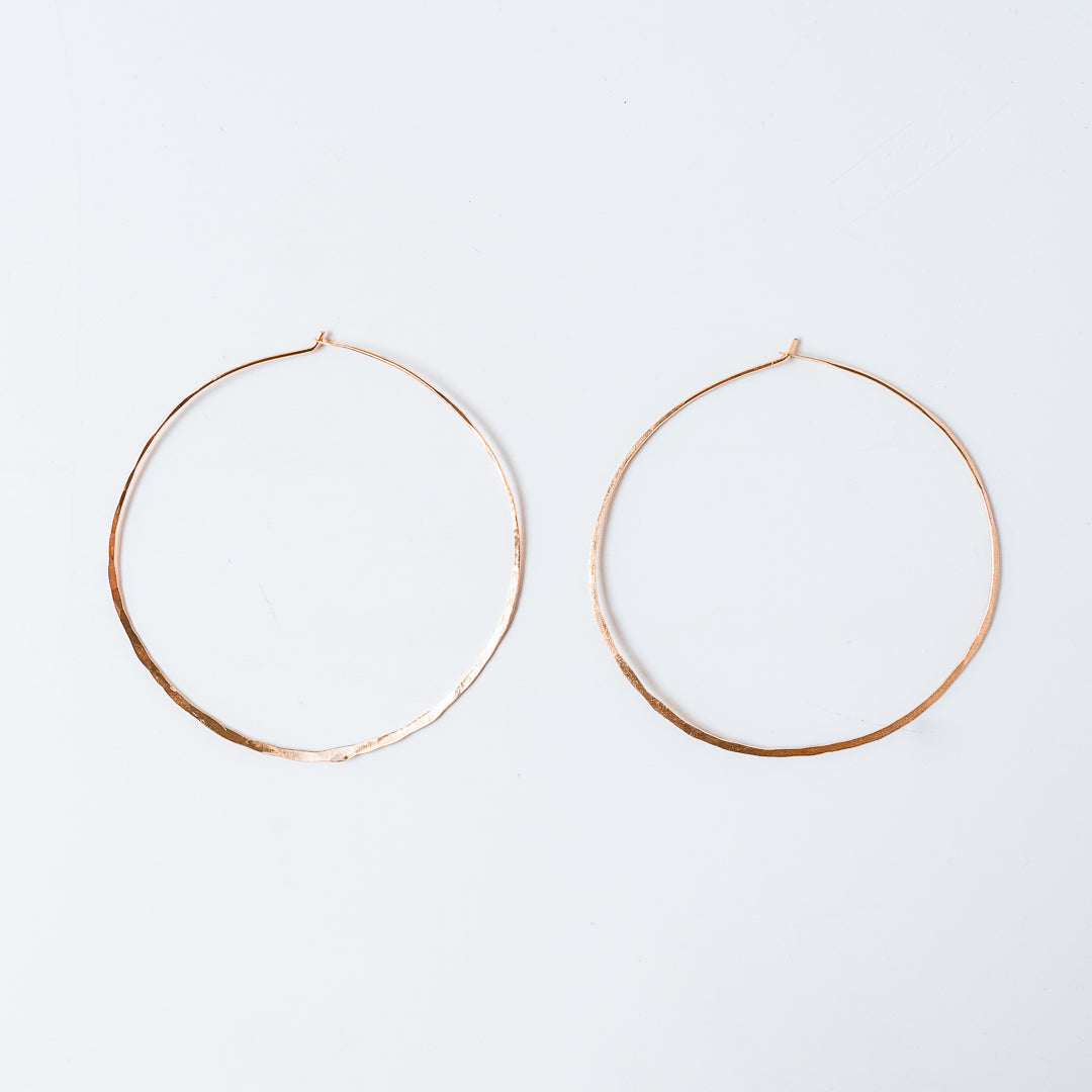 "3"" Gold Hoops 14k Gold Fill"
