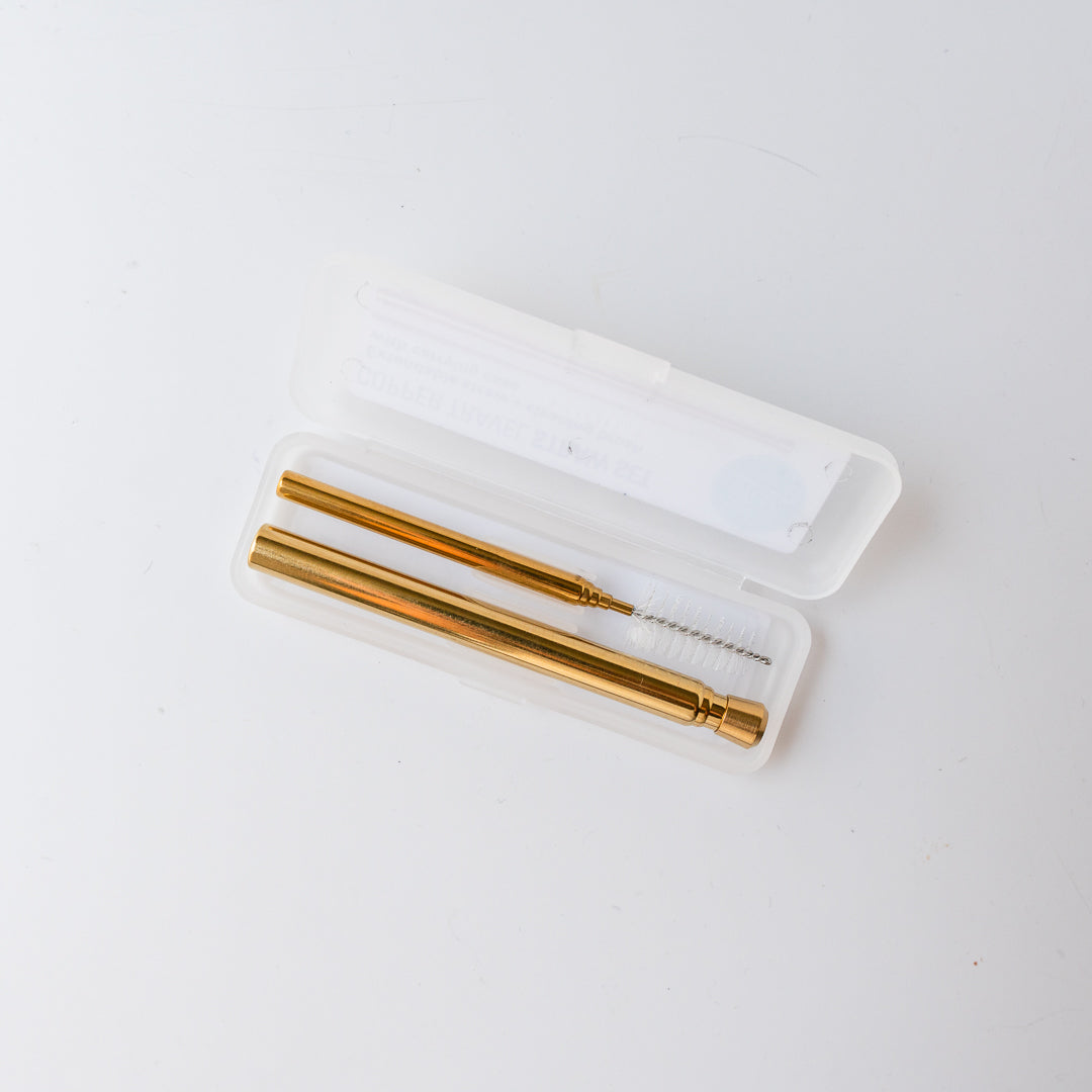 Travel Straw Copper