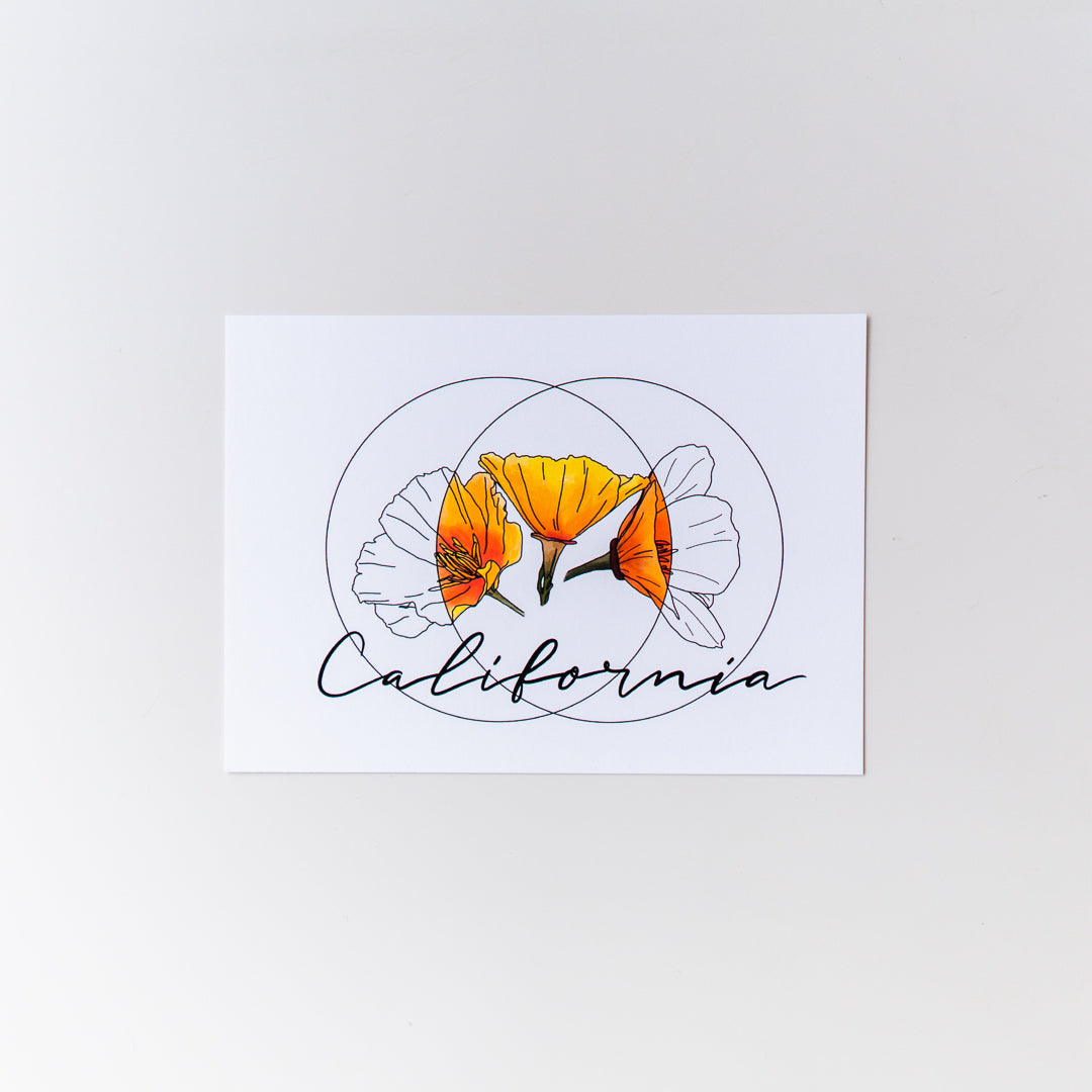 California Poppy Print 5x7