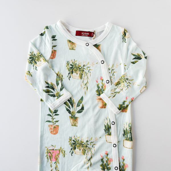 Plants Footed Romper