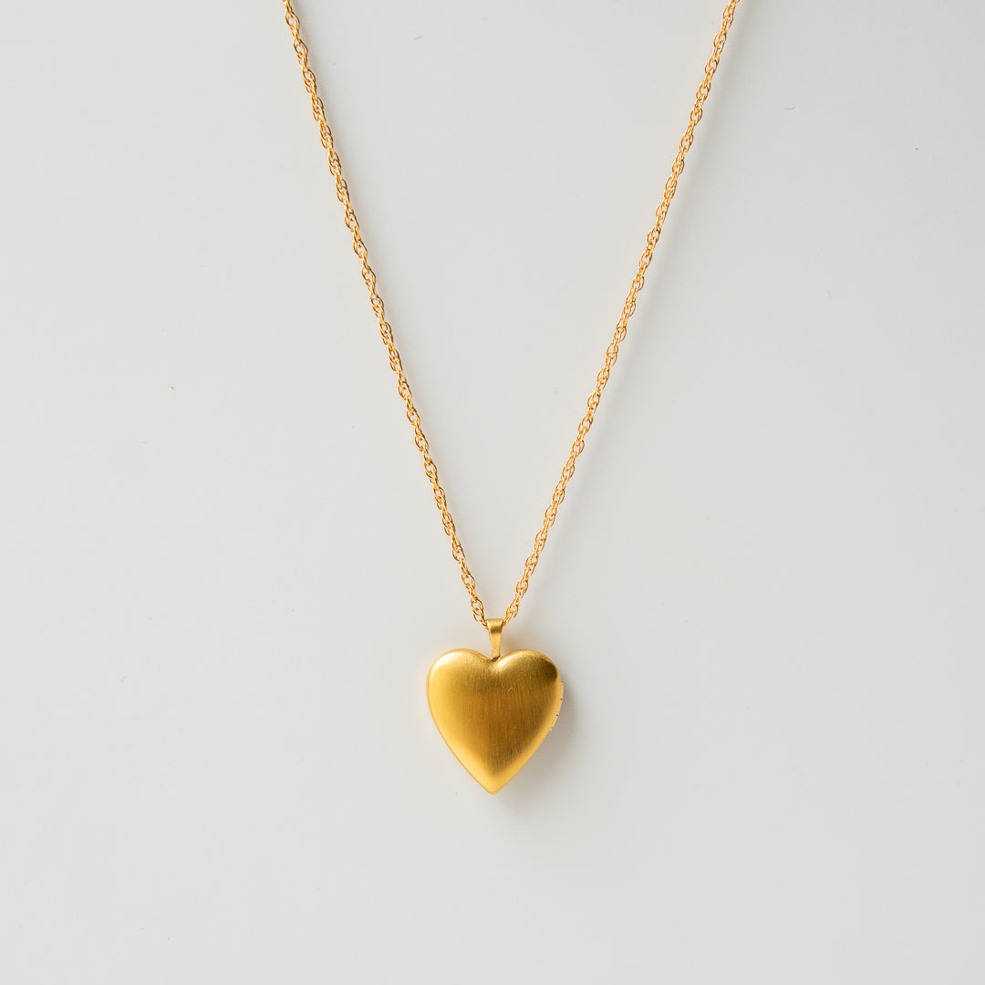 Heart Locket Necklace 14K Gold Fill