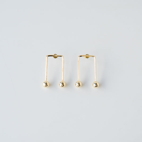 Padma Gold Statement Earrings