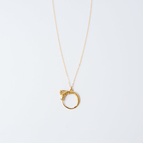 Oroboro Necklace - Champagne Diamond