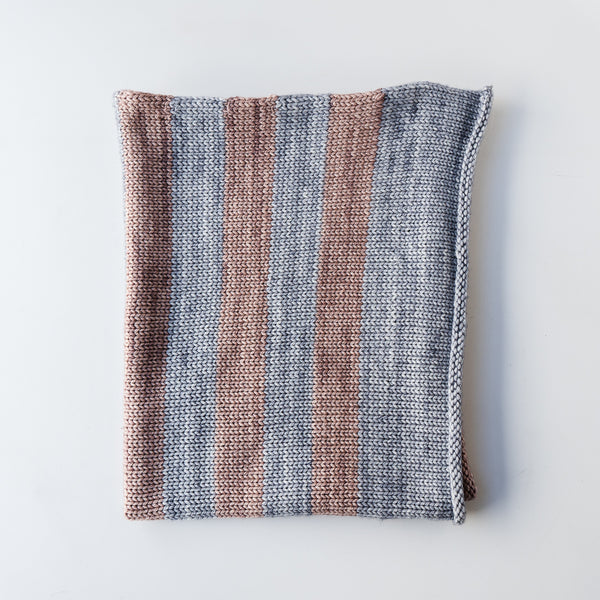 Blue & Grey Mauve Baby Blanket