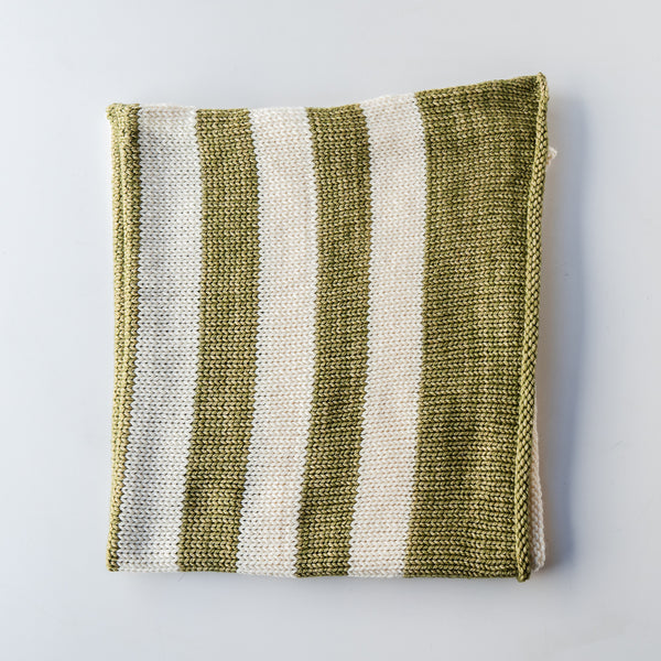 Green & Cream Baby Blanket